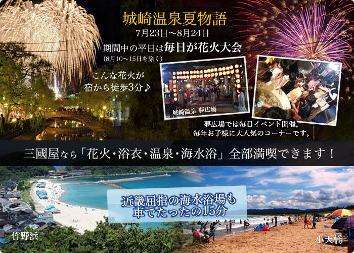 城崎温泉夏物語 期間中の平日は毎日が花火大会